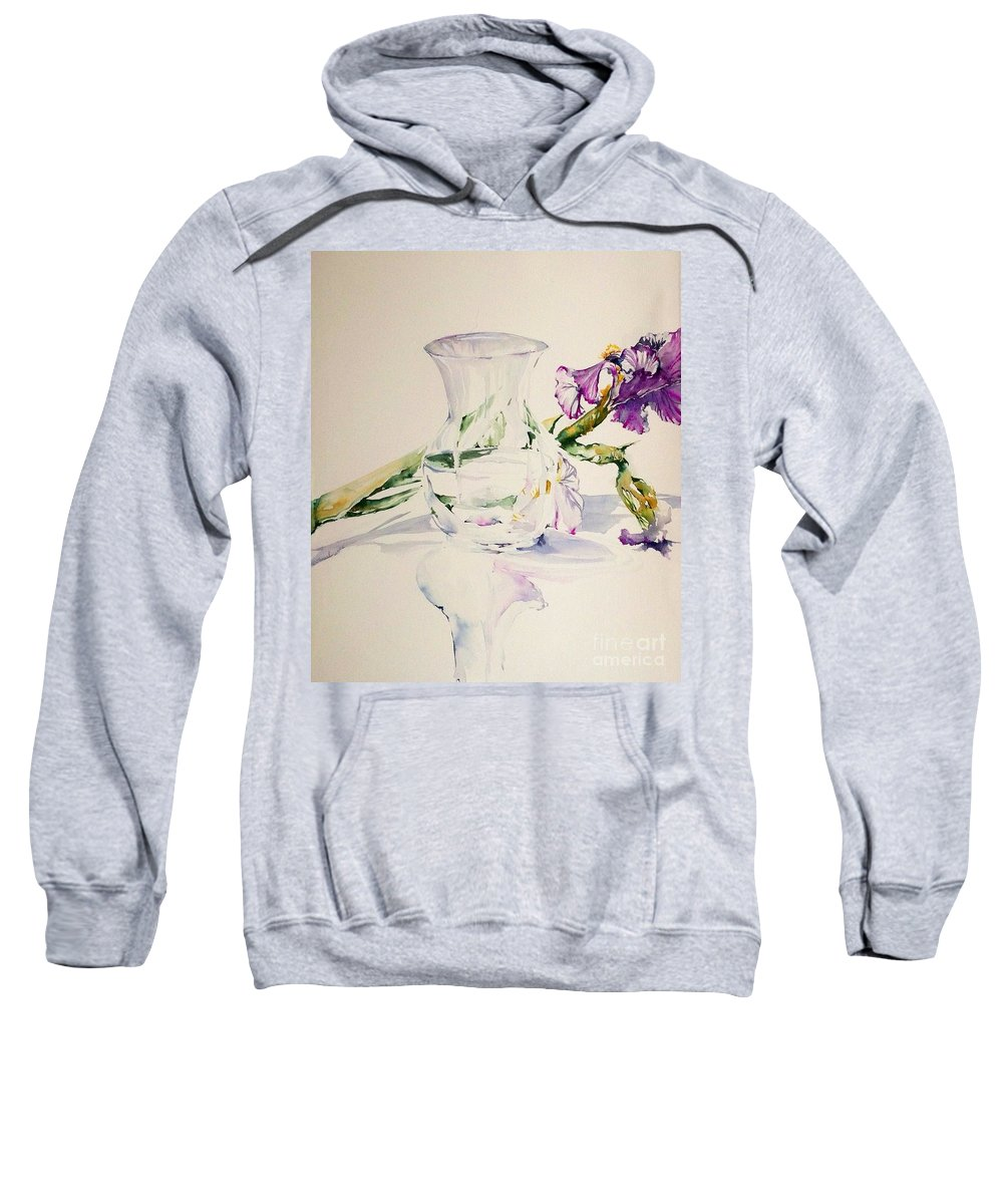 Floral Still Life Sweatshirt featuring the painting Fallen Soldier by Laurel Adams