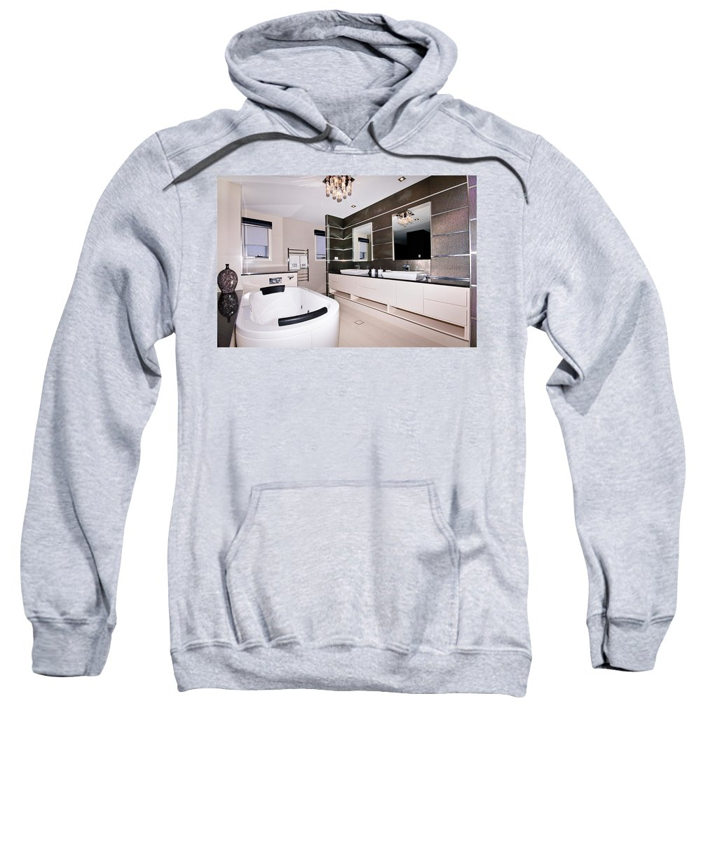 Bath Sweatshirt featuring the photograph Fancy Bathroom Ensuite by Darren Burton