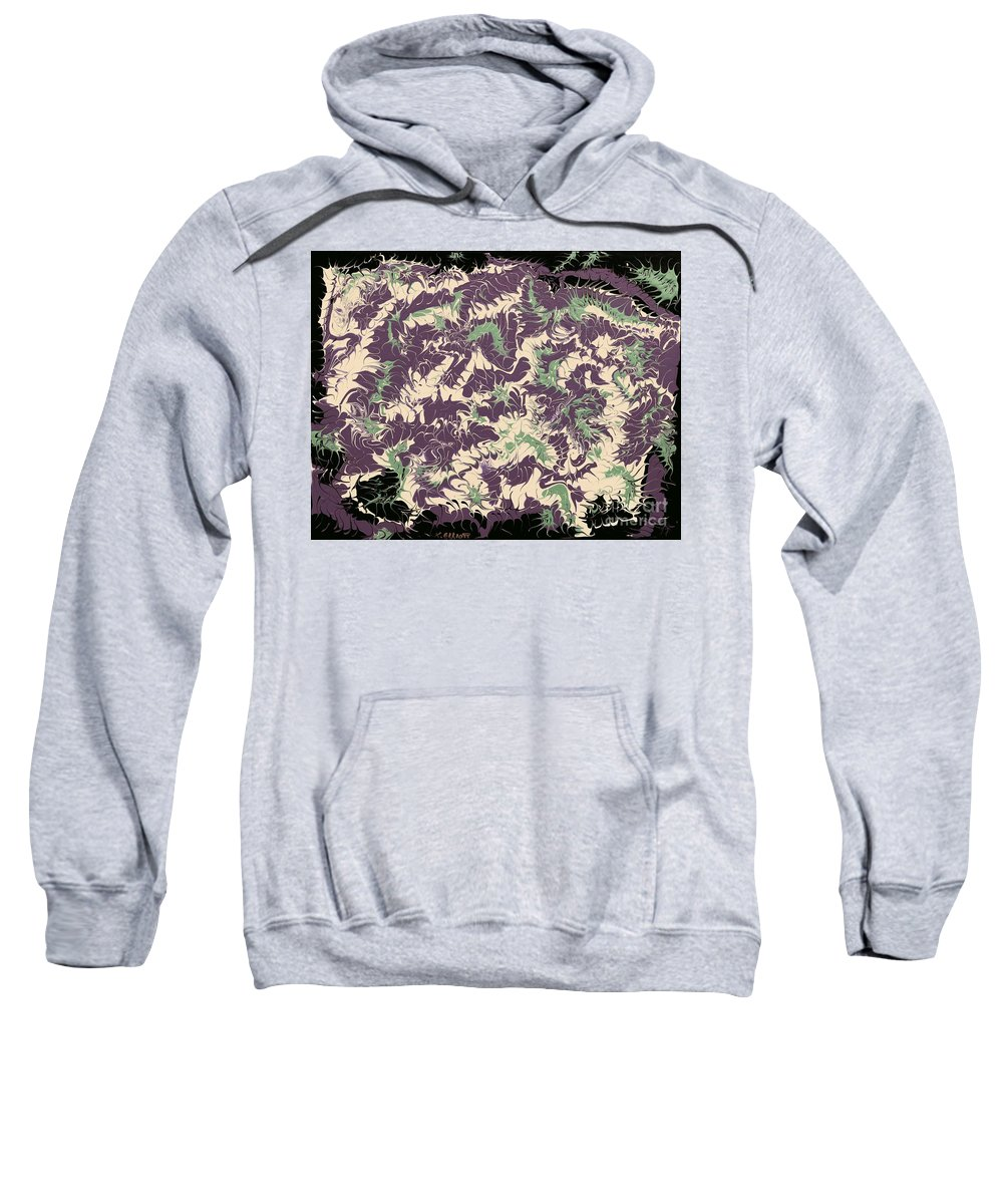 Keith Elliott Sweatshirt featuring the painting Fantastical - V1vsf100 by Keith Elliott