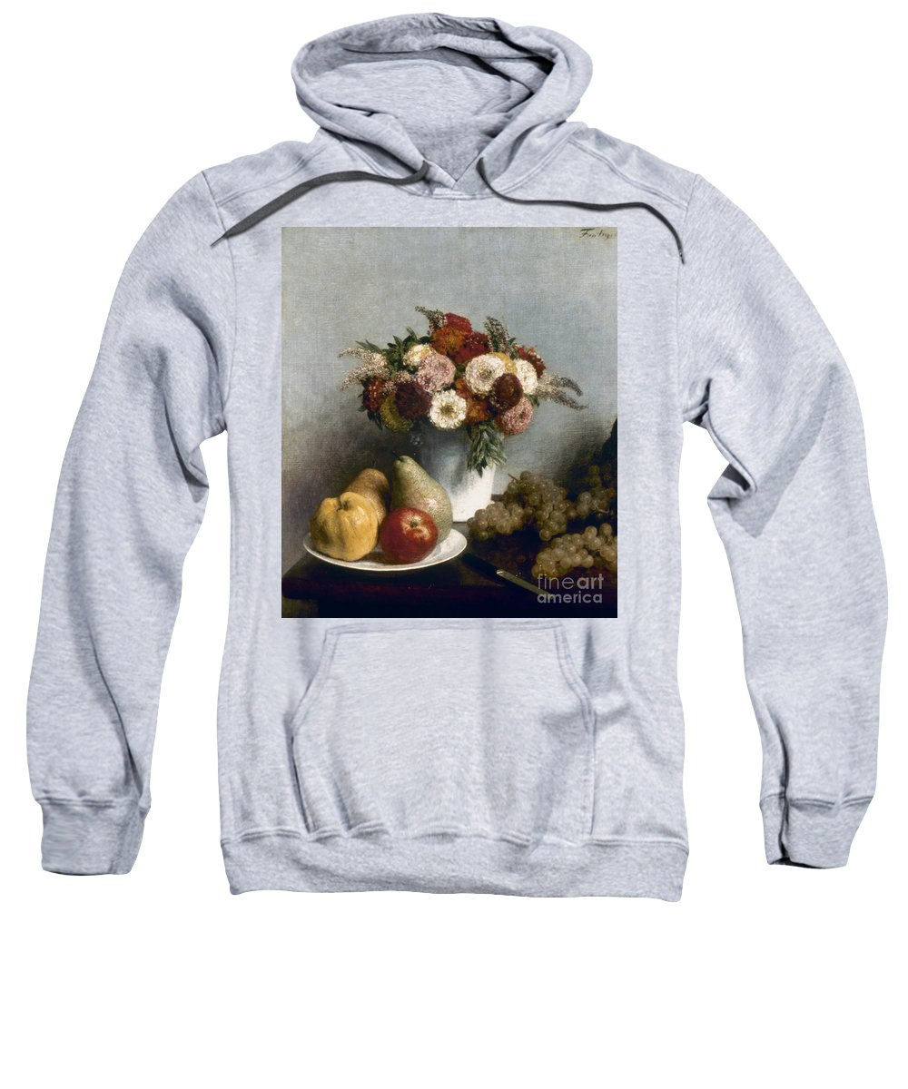 1865 Sweatshirt featuring the photograph Fantin-latour: Fruits, 1865 by Granger