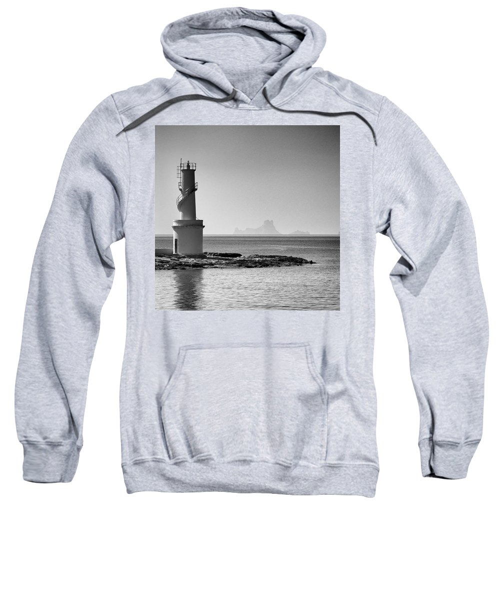 Balearics Sweatshirt featuring the photograph Far De La Savina Lighthouse, Formentera by John Edwards