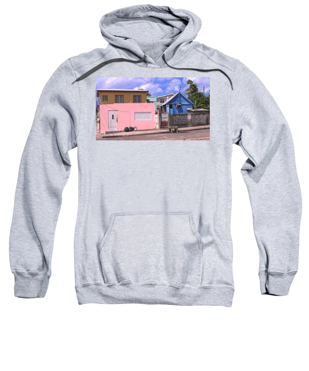 Basseterre Sweatshirt featuring the photograph Far From Dull by Ian MacDonald