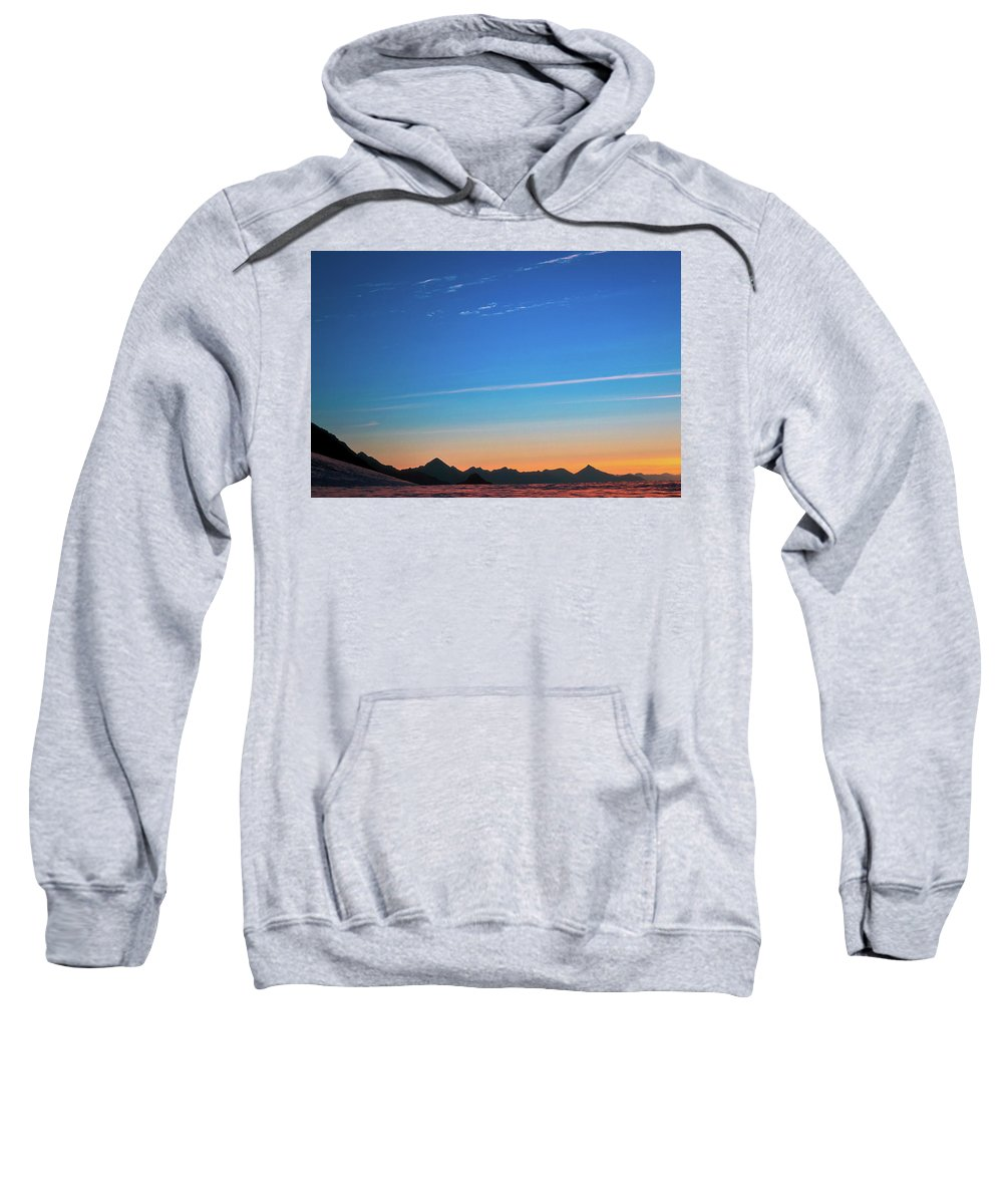 Alone Sweatshirt featuring the photograph Far Mountains by Konstantin Dikovsky