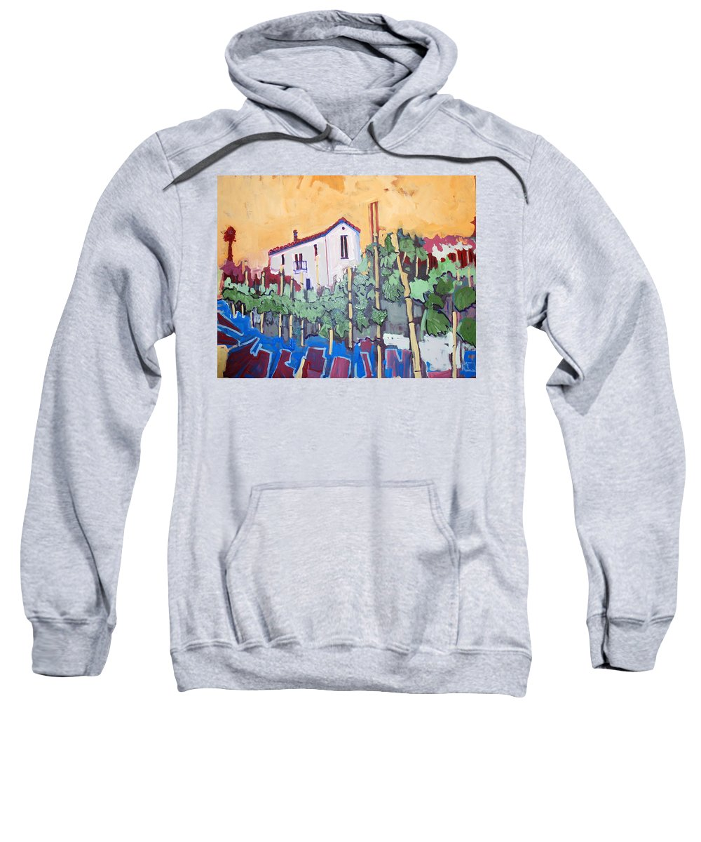 Farm House Sweatshirt featuring the painting Farm House by Kurt Hausmann