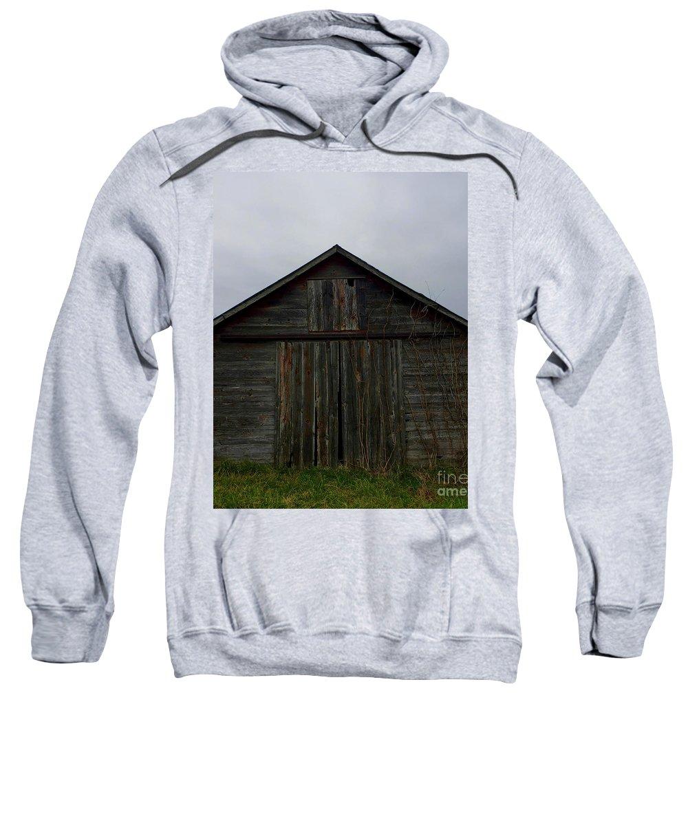 Barn Sweatshirt featuring the photograph Farrowing House by Penn Patrick