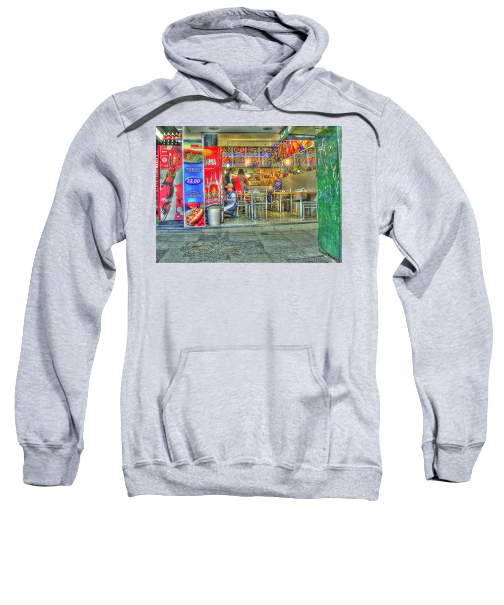 Conveniece Sweatshirt featuring the photograph Fast Food by Francisco Colon