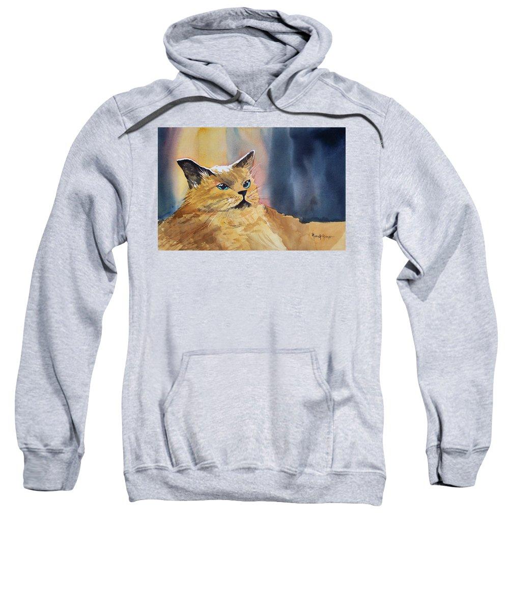 Landscape Sweatshirt featuring the painting Fat Cat by Ryan Radke