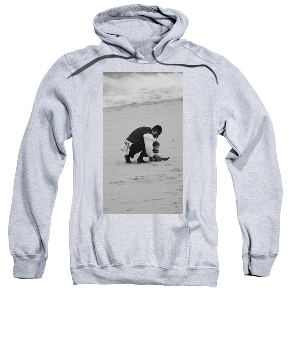 Black And White Sweatshirt featuring the photograph Father And Daughter by Rob Hans