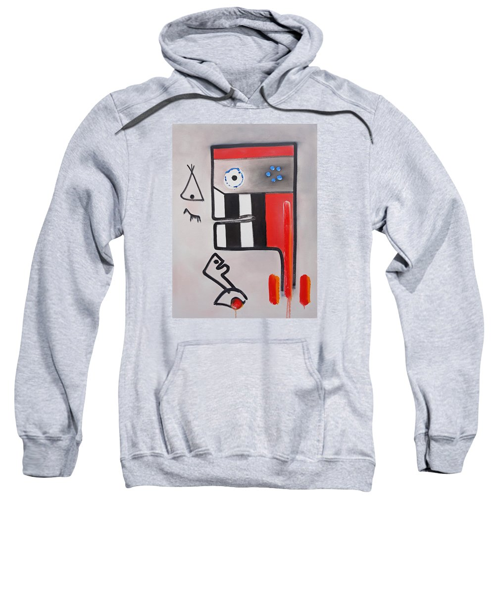 Native American Sweatshirt featuring the painting Fatherland by Charles Stuart