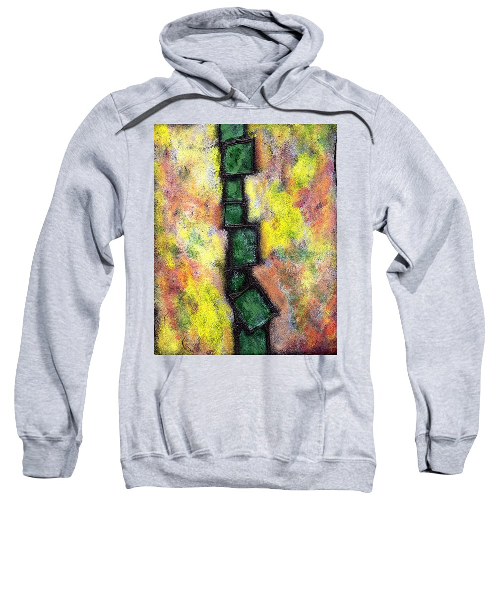 Abstract Sweatshirt featuring the painting Faux Tile Two by Wayne Potrafka