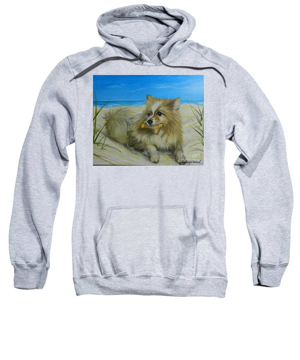 Portrait Sweatshirt featuring the painting Favorite Toy by Kimberly Daniel