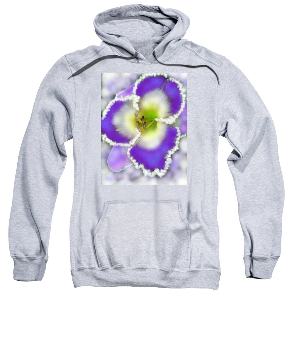 Daylily Sweatshirt featuring the digital art Feeling Blue by Susan Pannell