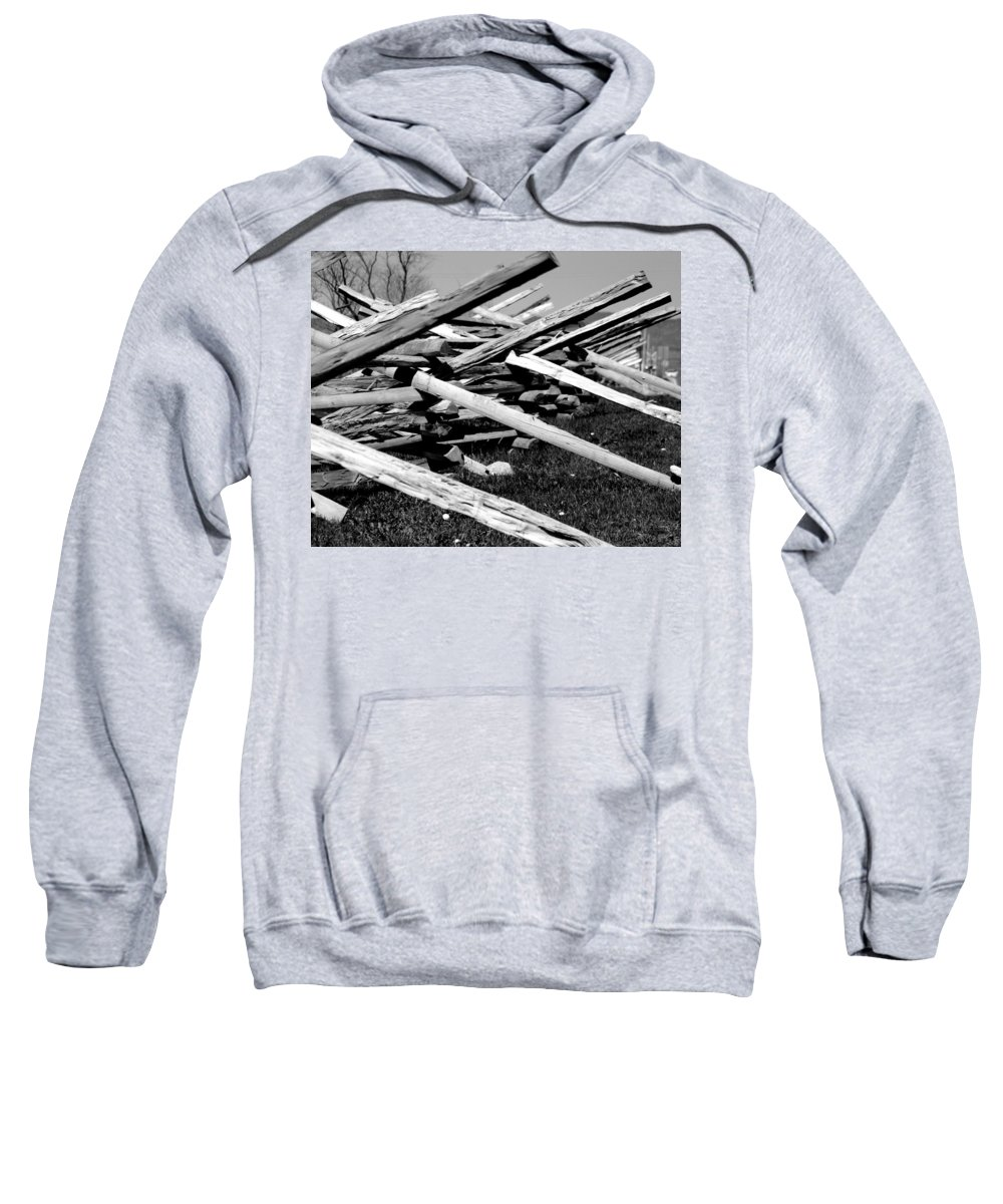 Fence Sweatshirt featuring the photograph Fence by Jean Macaluso