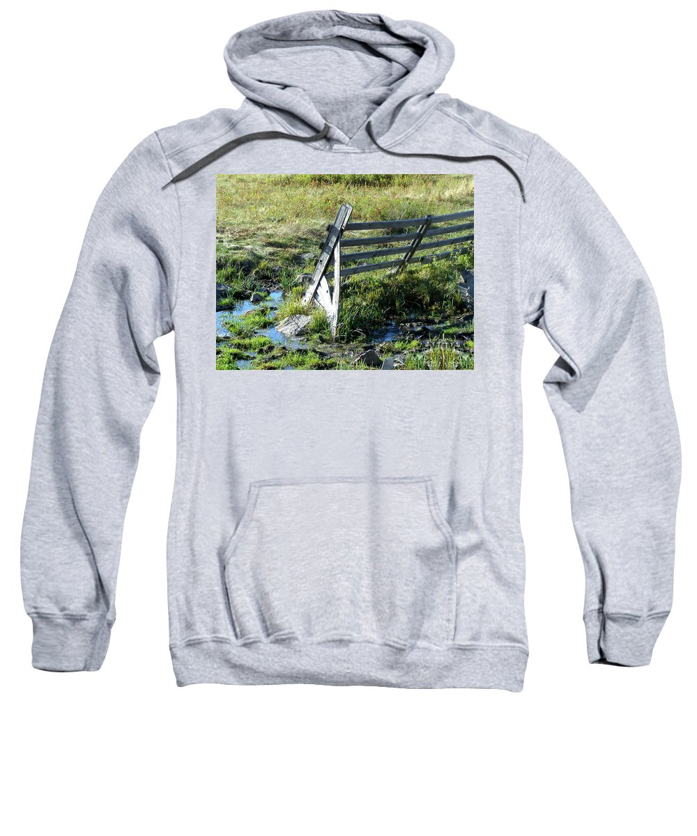 Fence Sweatshirt featuring the photograph Fence by Susan Kinney