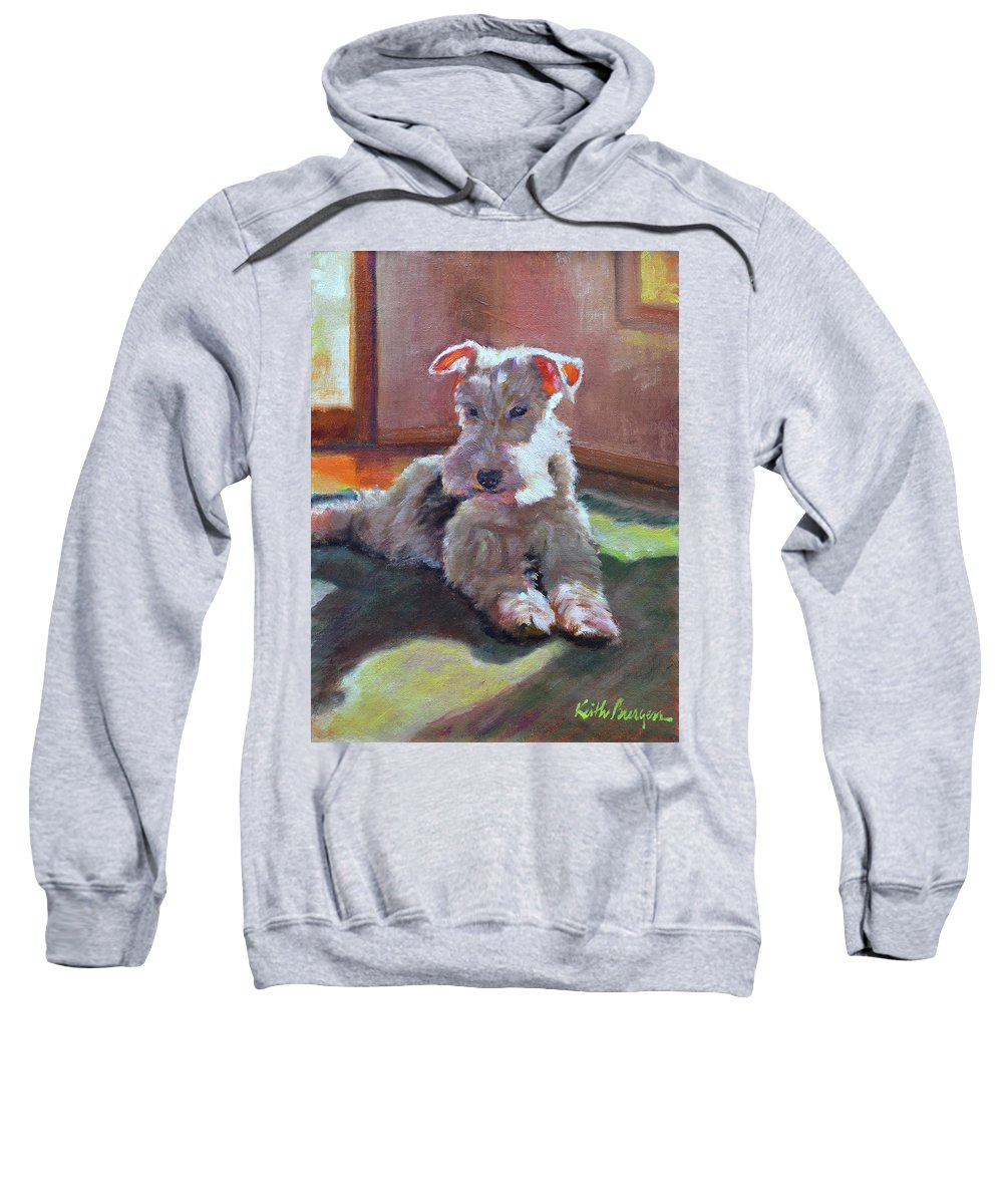 Pet Sweatshirt featuring the painting Fergie by Keith Burgess