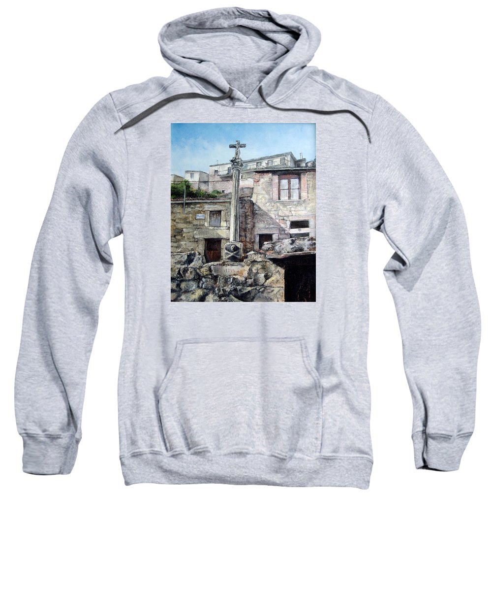 Fermoselle Sweatshirt featuring the painting Fermoselle.-crucero by Tomas Castano