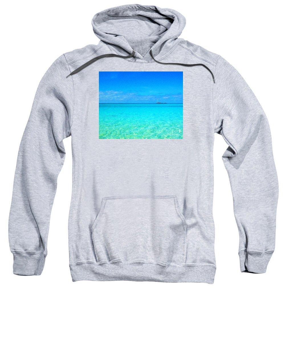 Sweatshirt featuring the digital art Fernandez Bay Calm by Joseph Re