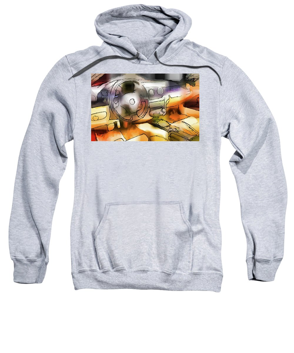 Ferrari Sweatshirt featuring the painting Ferrari 12 by Jeelan Clark