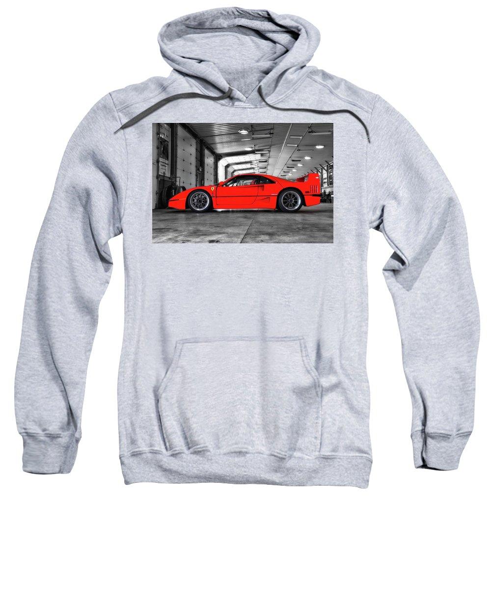 Ferrari Sweatshirt featuring the photograph Ferrari F40 by Joel Witmeyer