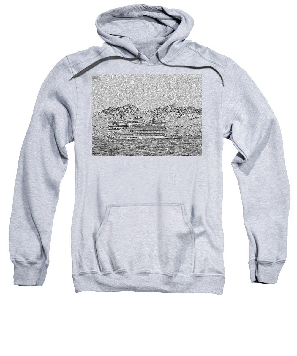 Seattle Sweatshirt featuring the photograph Ferry On Elliott Bay 5 by Tim Allen