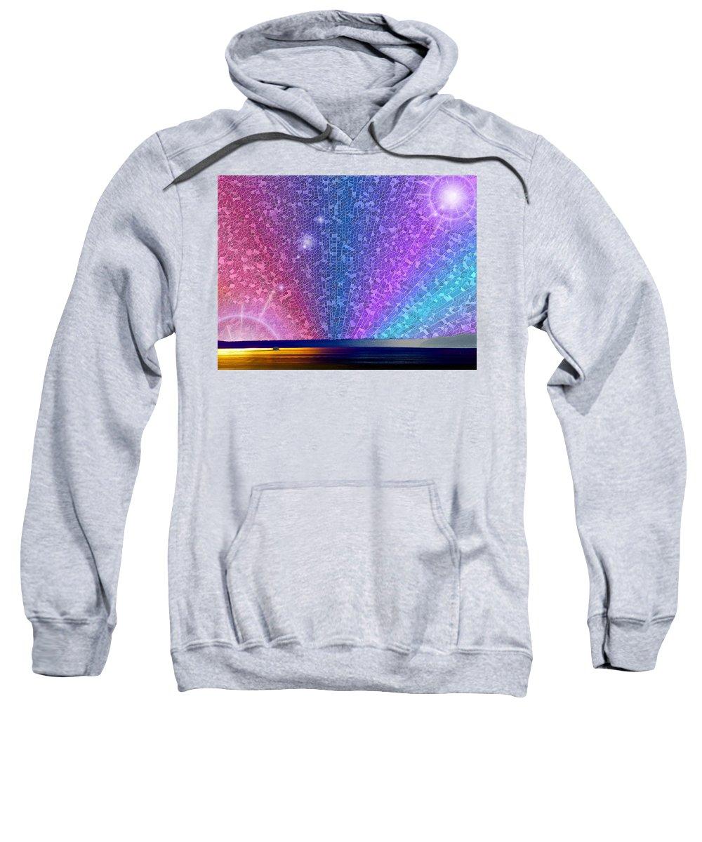 Ferry Sweatshirt featuring the digital art Ferry Tale Ending by Tim Allen