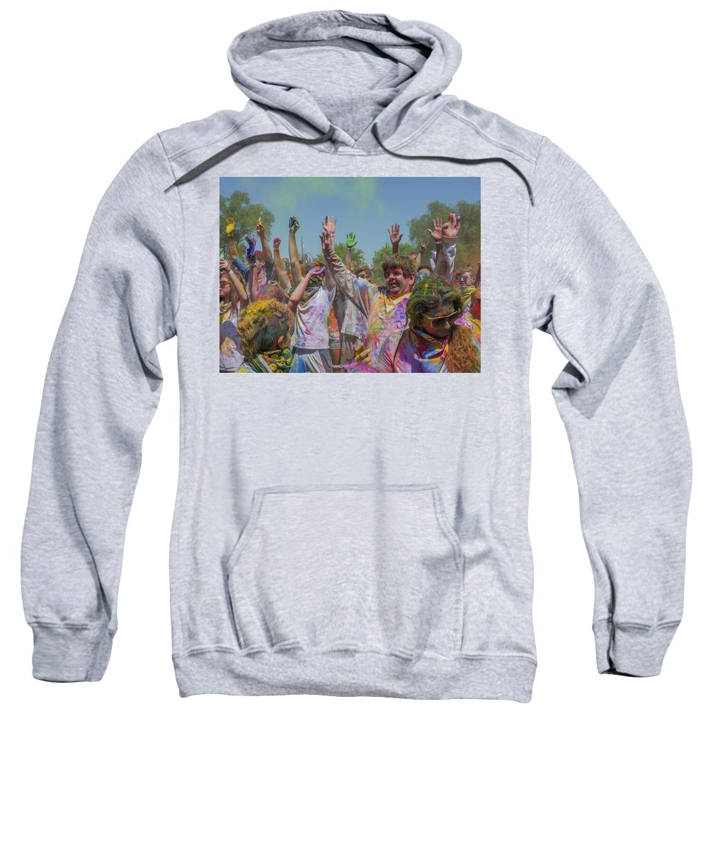 Festival Of Color Sweatshirt featuring the photograph Festival Of Color by Billy Joe