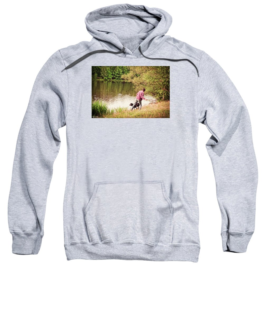Dog Sweatshirt featuring the photograph Fetch by Earl Ricks