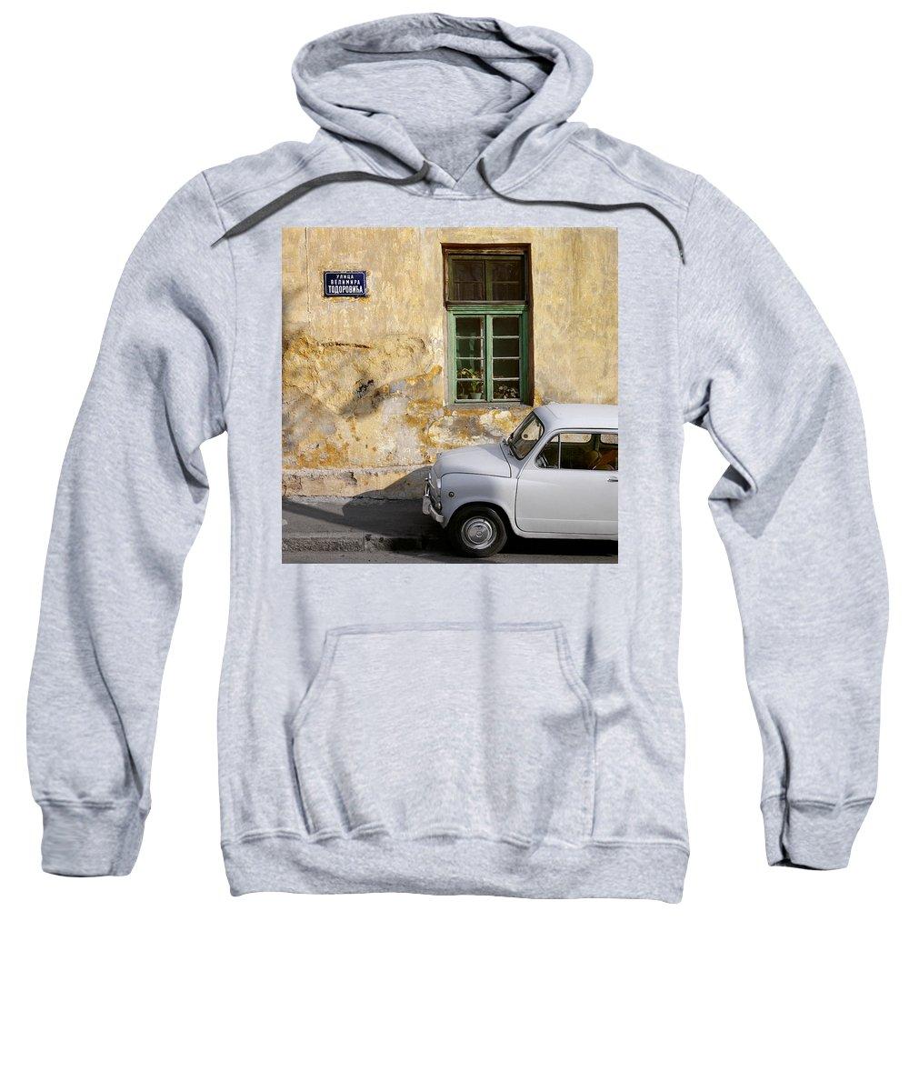 Serbia Belgrade Sweatshirt featuring the photograph Fiat 600. Belgrade. Serbia by Juan Carlos Ferro Duque