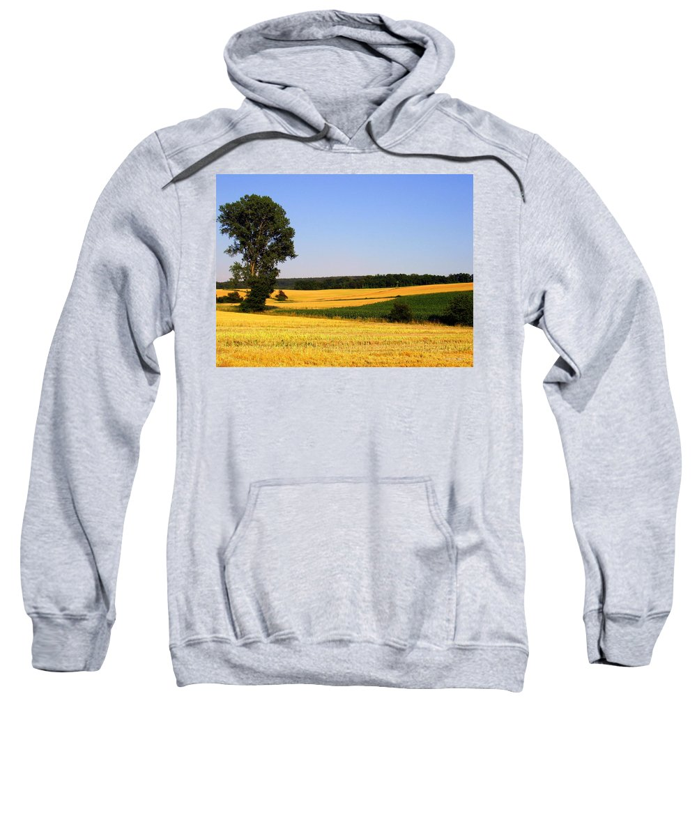 Landscape Sweatshirt featuring the photograph Field Flow by Deborah Crew-Johnson