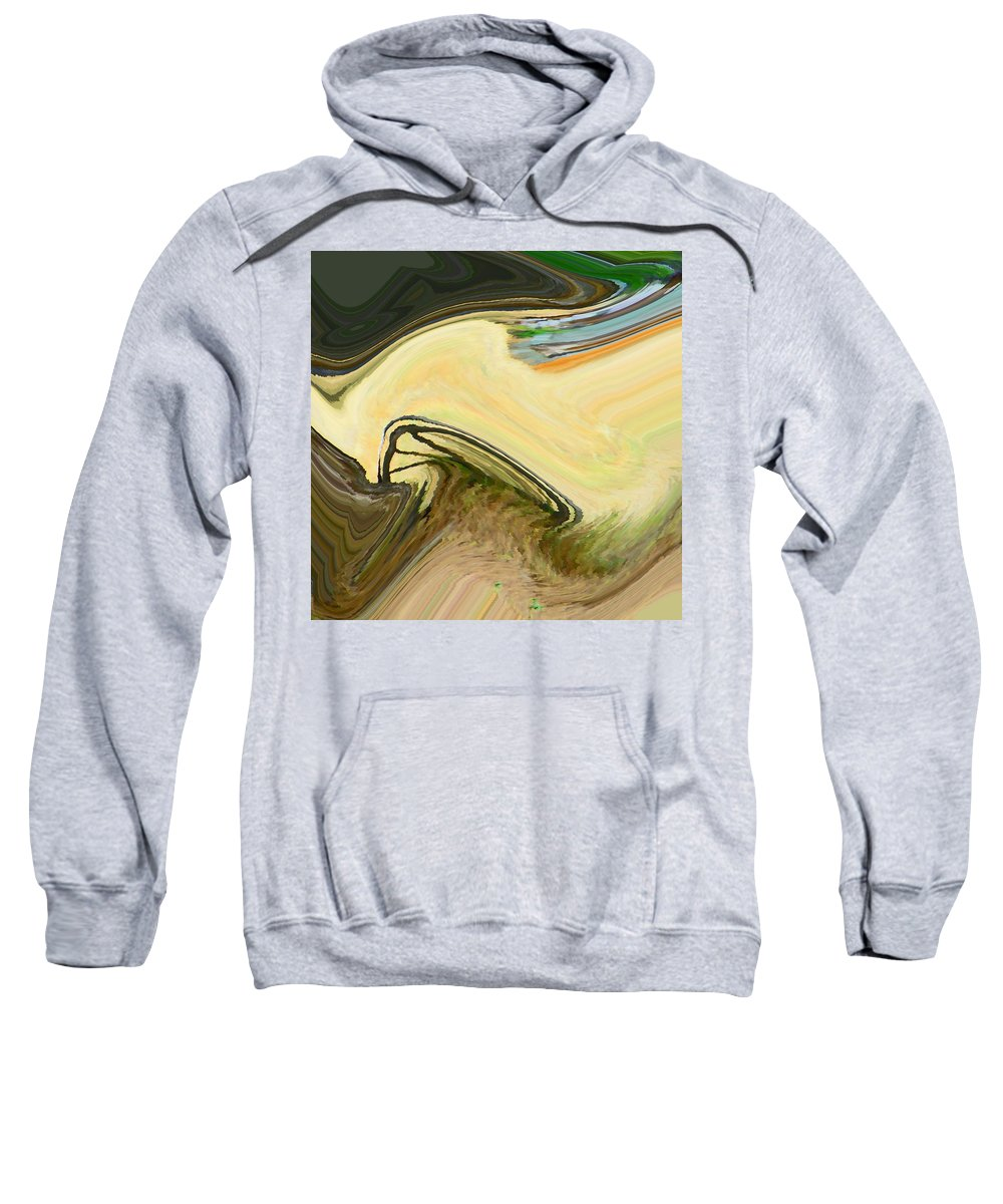 Abstract Sweatshirt featuring the digital art Field Of Yesteryear by Lenore Senior