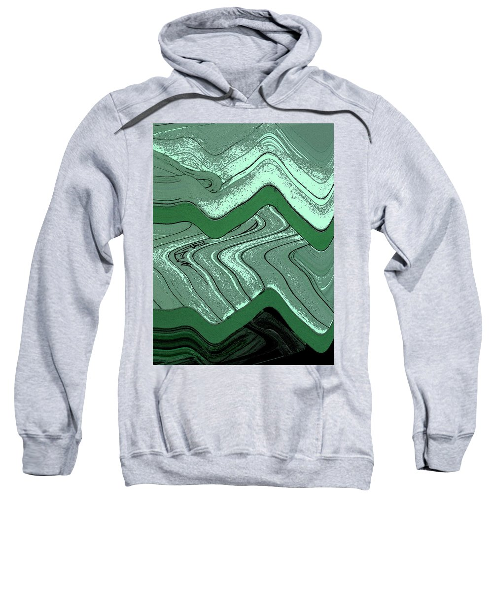 Abstract Sweatshirt featuring the digital art Fields by Lenore Senior