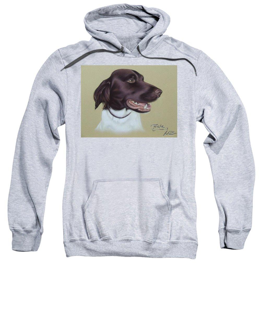 Dog Sweatshirt featuring the pastel Fiete by Nicole Zeug