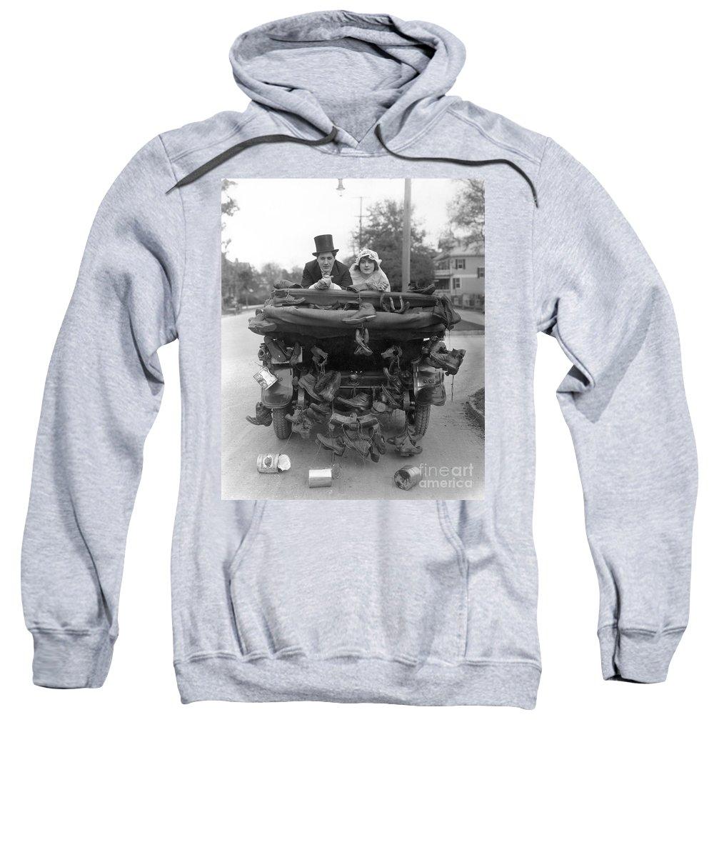 -weddings & Gowns- Sweatshirt featuring the photograph Film Still Wedding by Granger