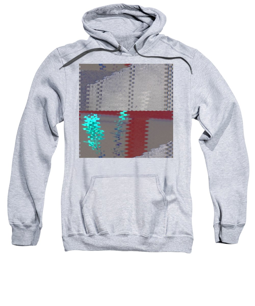 Abstract Sweatshirt featuring the digital art Filming by Lenore Senior