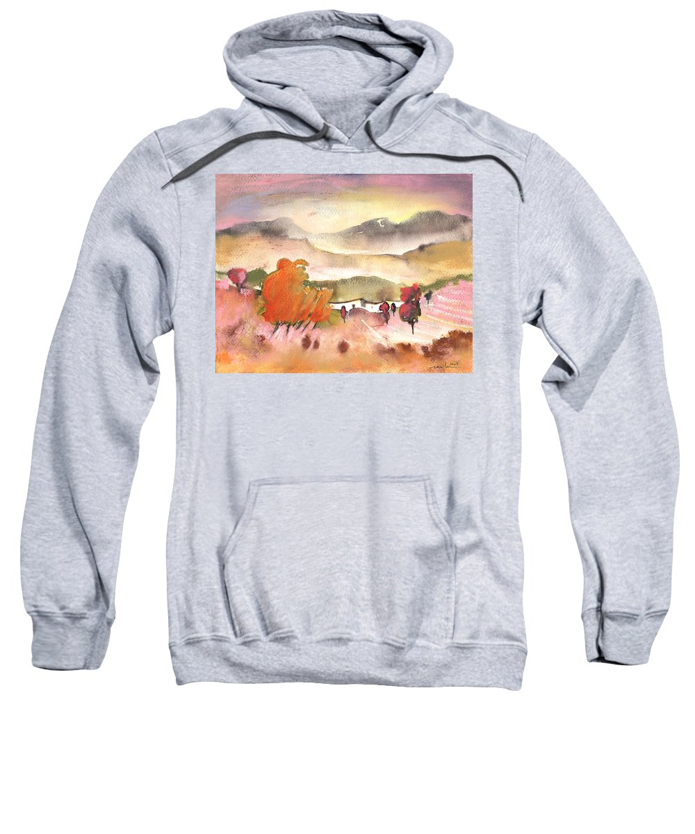 Travel Sweatshirt featuring the painting Finca In Spain by Miki De Goodaboom