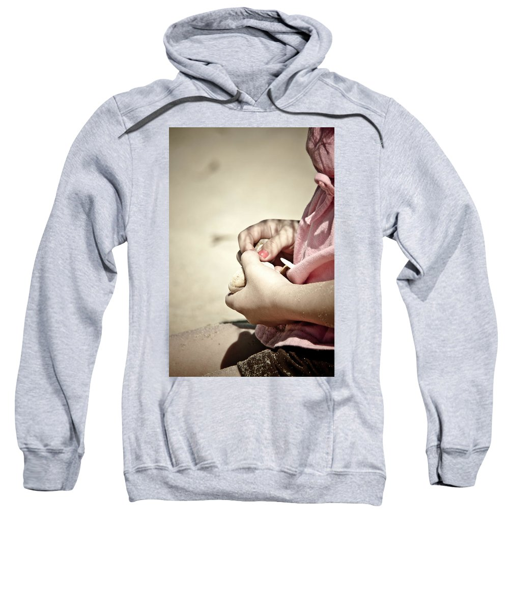 Girl Sweatshirt featuring the photograph Finding Treasures by Trish Tritz