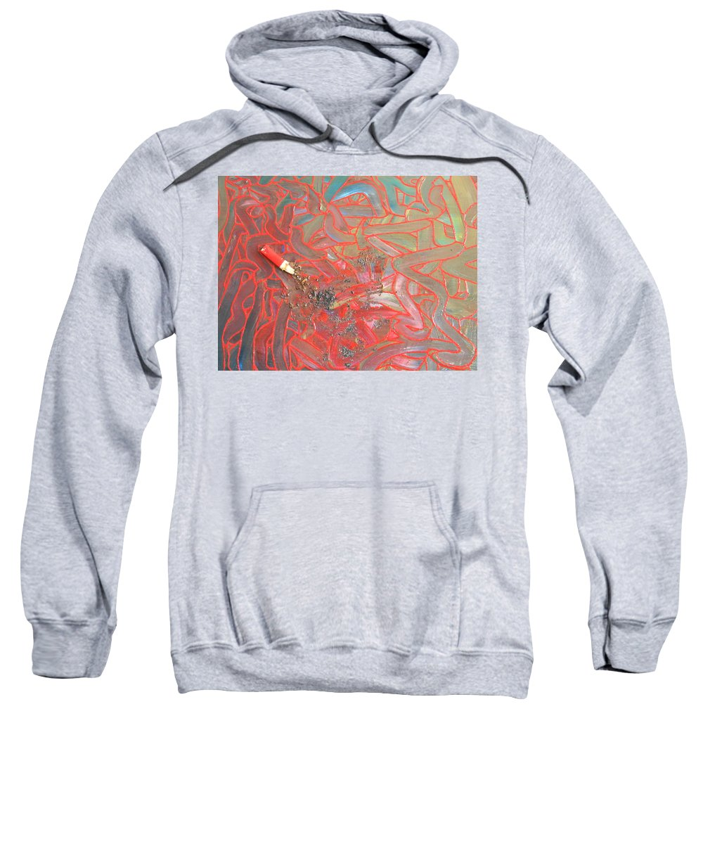 Finger Painting Sweatshirt featuring the painting Finger Painting by Marwan George Khoury