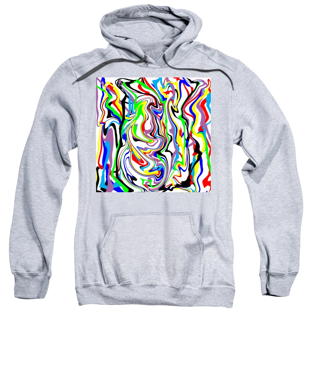 Abstract Sweatshirt featuring the digital art Finny by Blind Ape Art