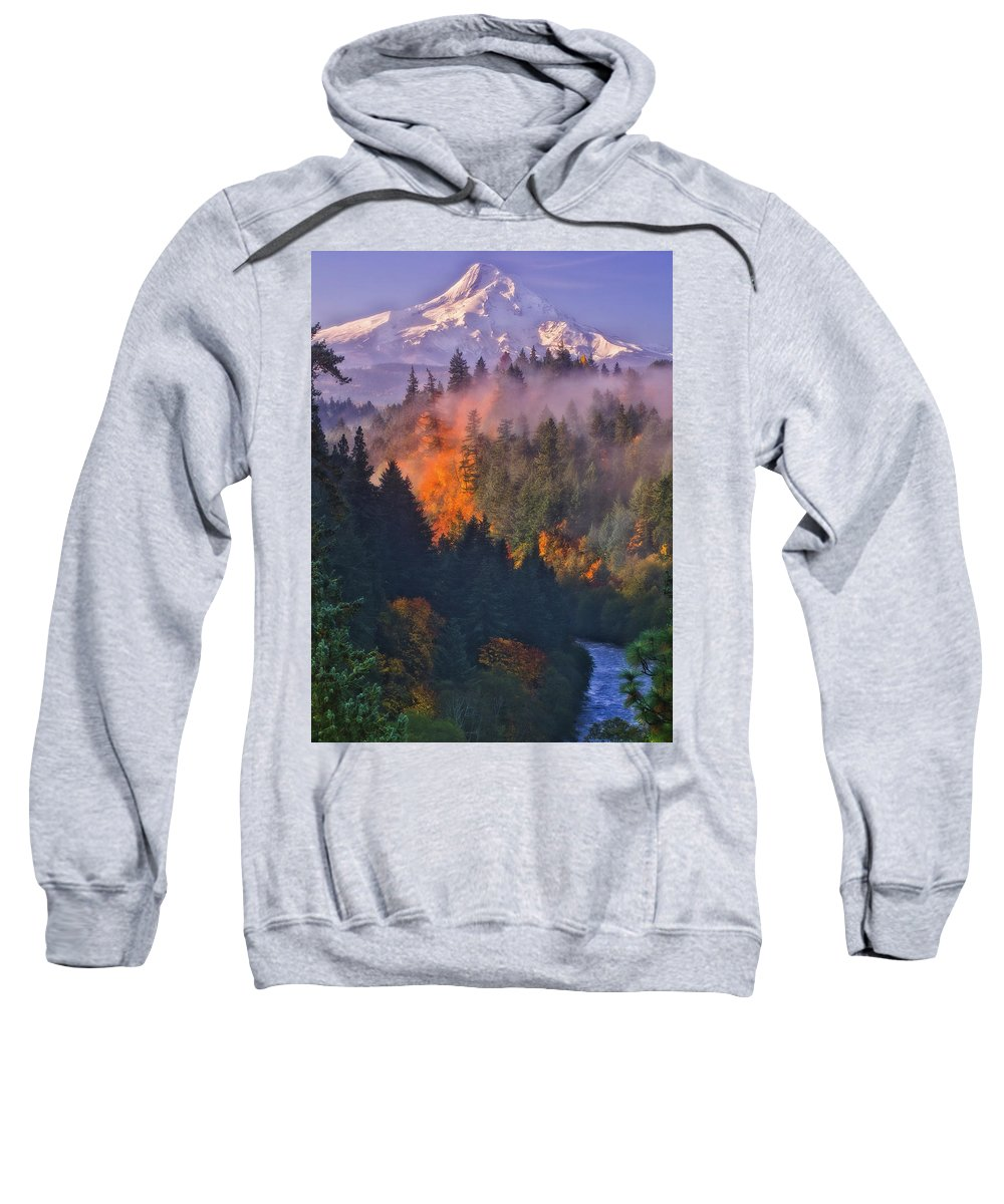 Mountain Sweatshirt featuring the photograph Fire And Smoke by Engin Tokaj