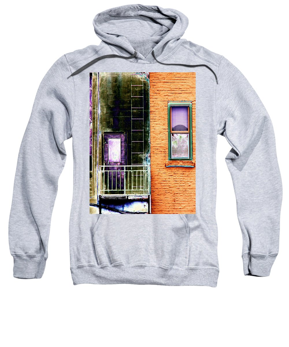 Fire Escape Sweatshirt featuring the digital art Fire Escape by Tim Allen