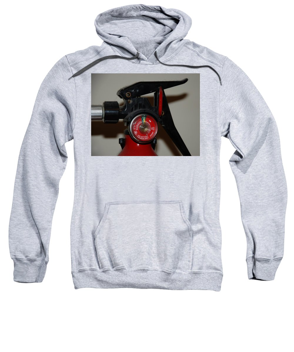 Fire Extinguisher Sweatshirt featuring the photograph Fire Extinguisher by Rob Hans