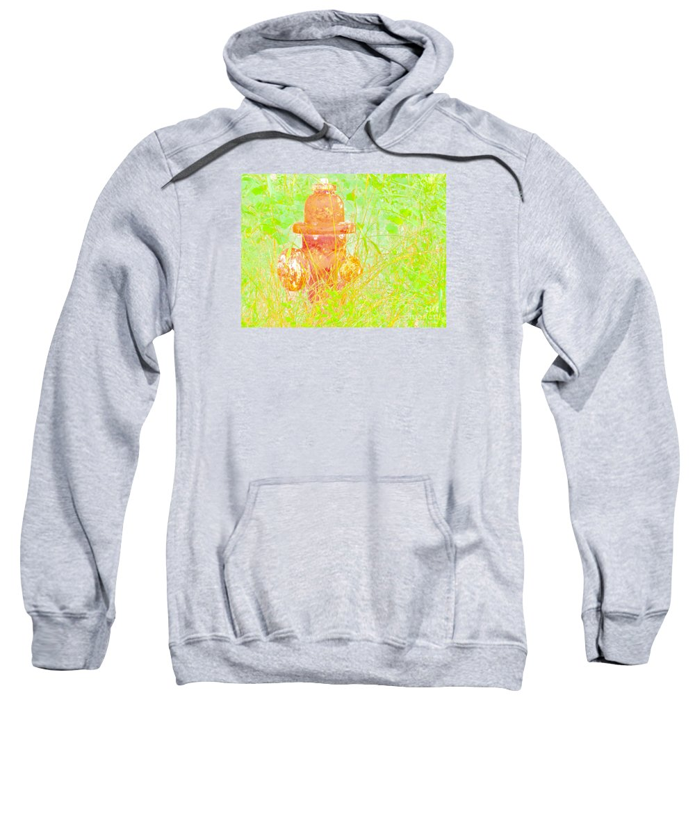 Fire Hydrant Sweatshirt featuring the photograph Fire Hydrant Watercolor by Gary Richards