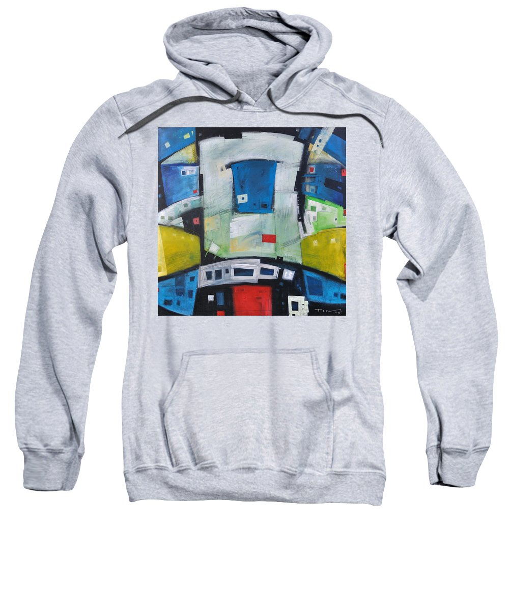 Abstract Sweatshirt featuring the painting Fire In The Belly by Tim Nyberg