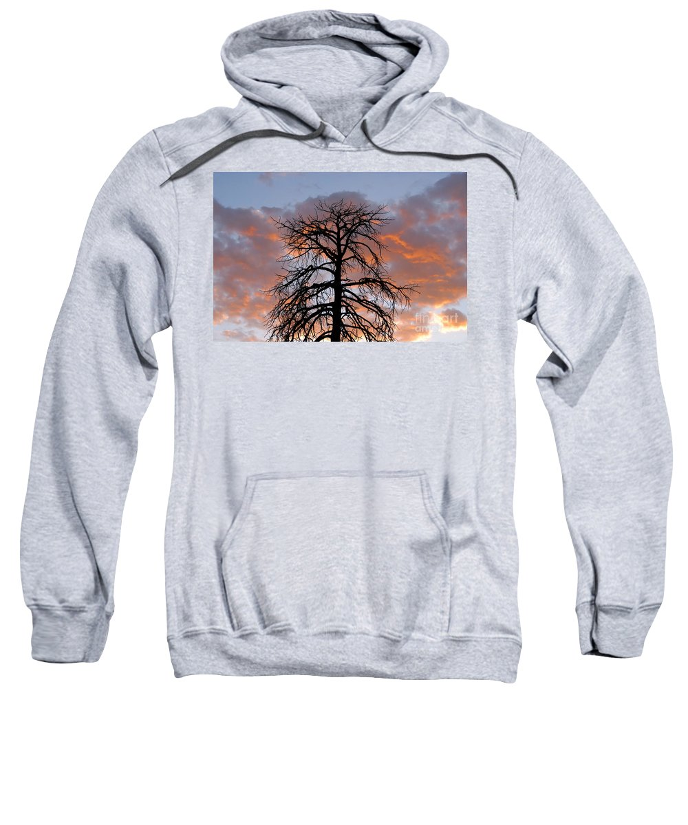 Fire Sweatshirt featuring the photograph Fire In The Sky by David Lee Thompson