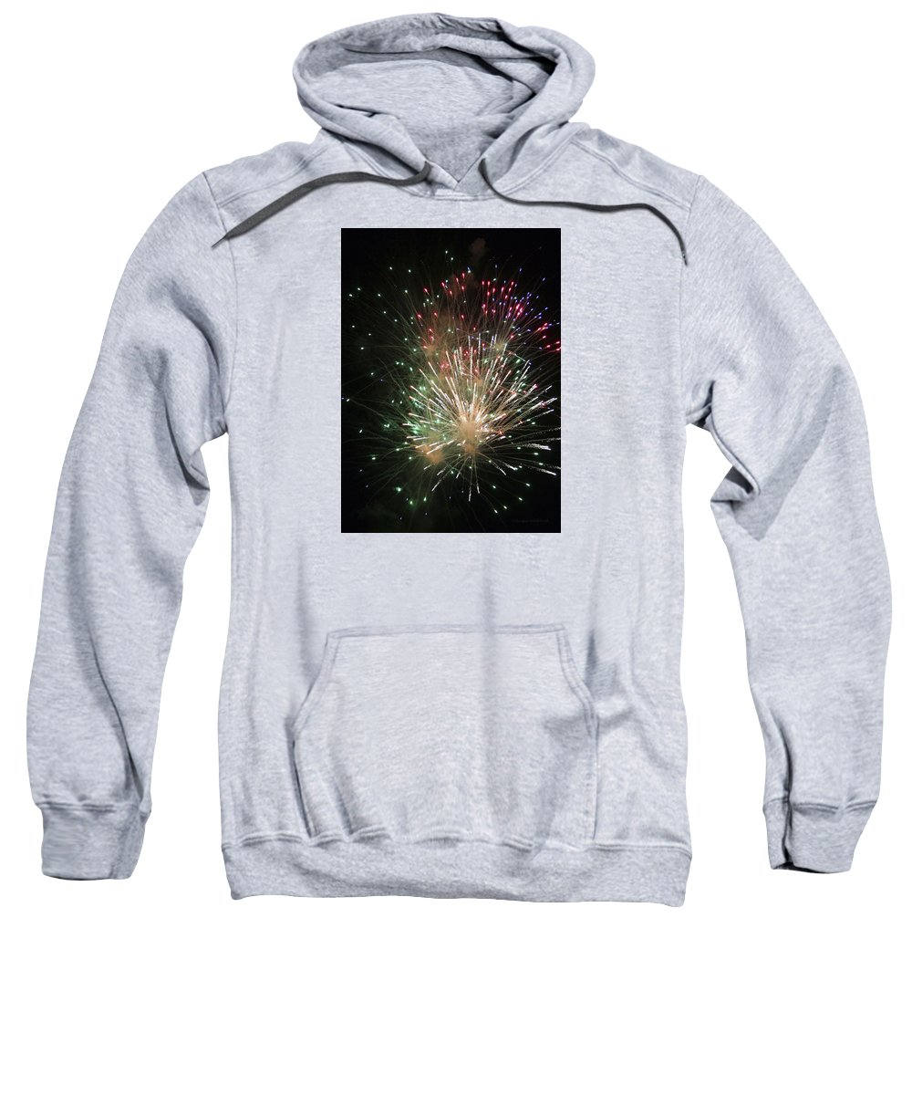 Fireworks Sweatshirt featuring the photograph Fireworks by Margie Wildblood