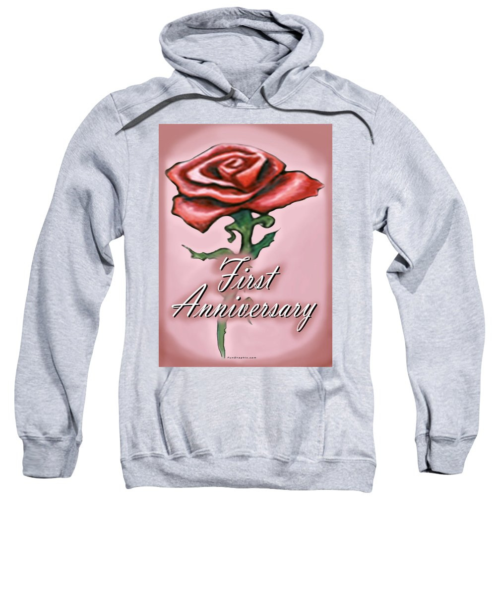 First Sweatshirt featuring the greeting card First Anniversary by Kevin Middleton