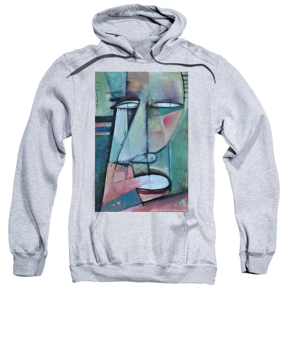 Face Sweatshirt featuring the painting First Day North Of The Tension Line by Tim Nyberg