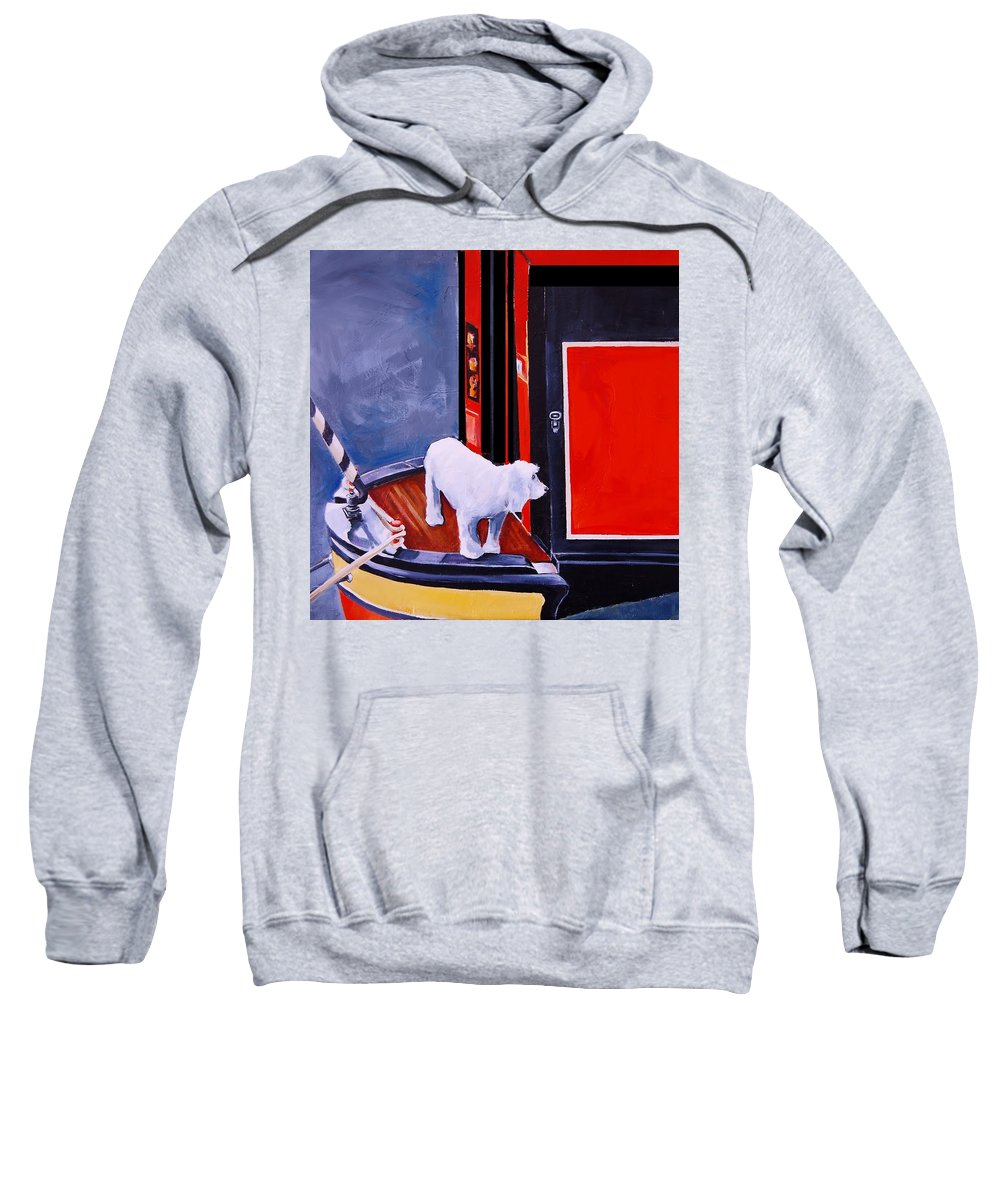 Dog Sweatshirt featuring the painting First Mate by Jean Cormier