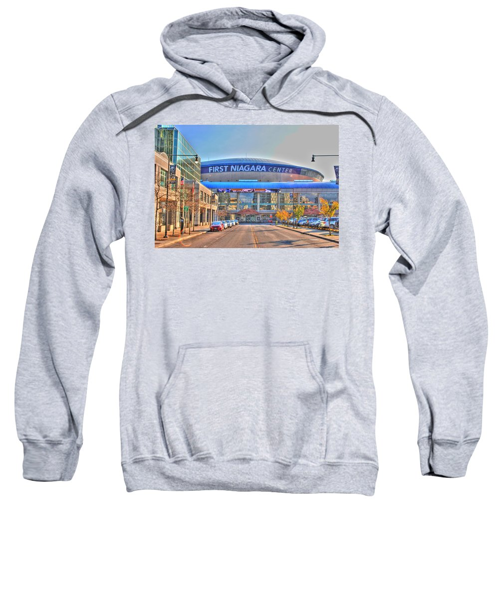 Sweatshirt featuring the photograph First Niagara Center by Michael Frank Jr