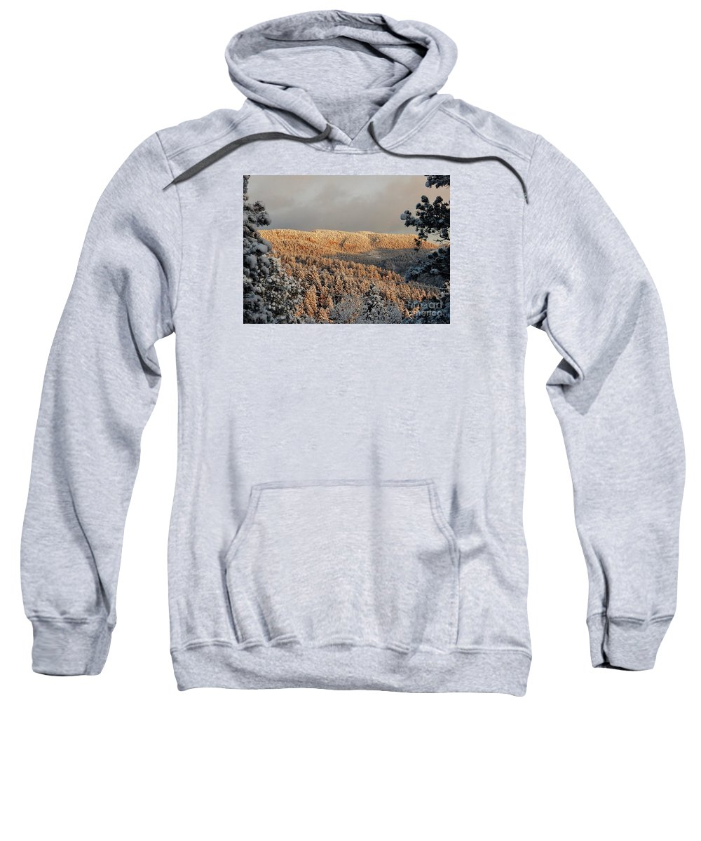 Winter Sweatshirt featuring the photograph First Rays Of The Day by CL Redding